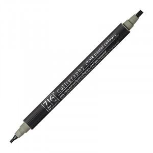 ZIG MS Calligraphy Twin Tip Mkr Chalk Pastel Grey