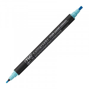 ZIG MS Calligraphy Twin Tip Mkr Chalk Pastel Blue