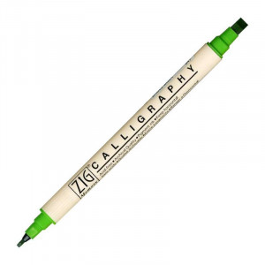 ZIG MS Calligraphy Twin Tip Marker 047 Spg Green