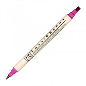 ZIG MS Calligraphy Twin Tip Marker 025 Pure Pink