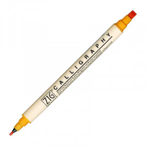 ZIG MS Calligraphy Twin Tip Marker 052 Apricot