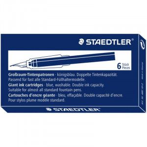 STAEDTLER Giant Ink Cartridges 6s 480-Blue