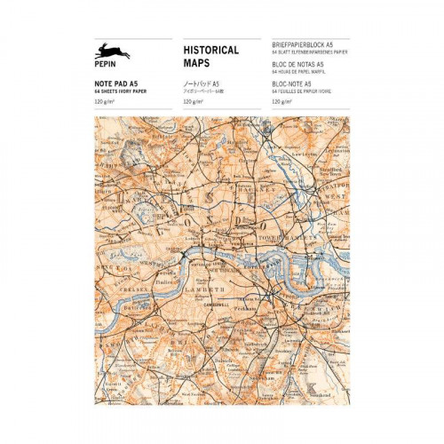 PEPIN A5 Writing Paper & Note Pads Historical Maps