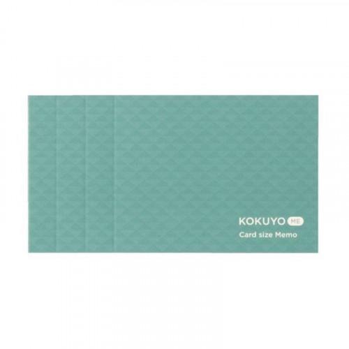 KOKUYO ME Card Size Memo 3mm Grid Smoky Sky