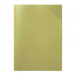 KOKUYO ME Hard Clear Holder A4(A3) Golden Green