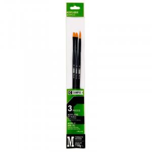 CAMPUS Acrylic Brushes M Set of 3