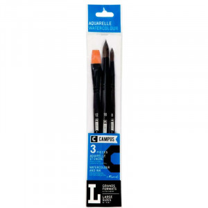 CAMPUS Watercolour Brushes L Set of 3