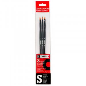 CAMPUS Hobby Brushes S Set of 3