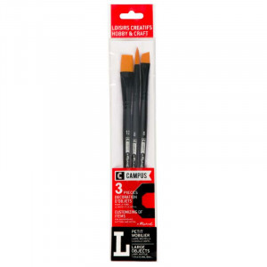 CAMPUS Hobby Brushes L Set of 3