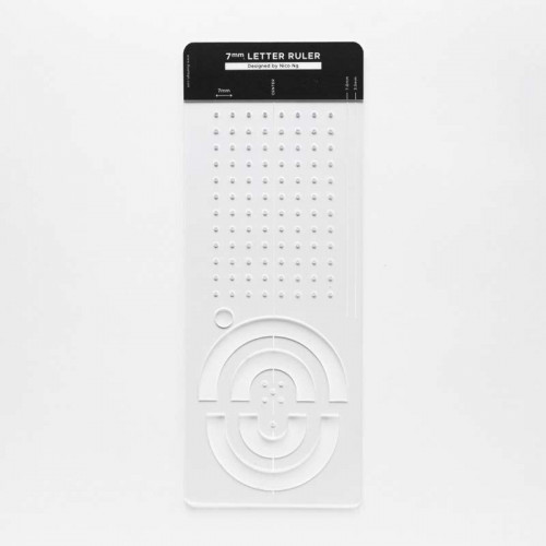 RUEHIGH Letter Ruler 7mm by Nico Ng