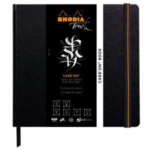 RHODIA Touch Carbon Book 120g 21x21cm Blank 56s