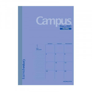 KOKUYO 2021 Campus Diary A5 Monthly Blue