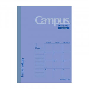 KOKUYO 2021 Campus Diary A6 Monthly Blue