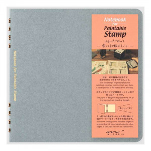 MIDORI Notebook for Paintable Stamp Blue