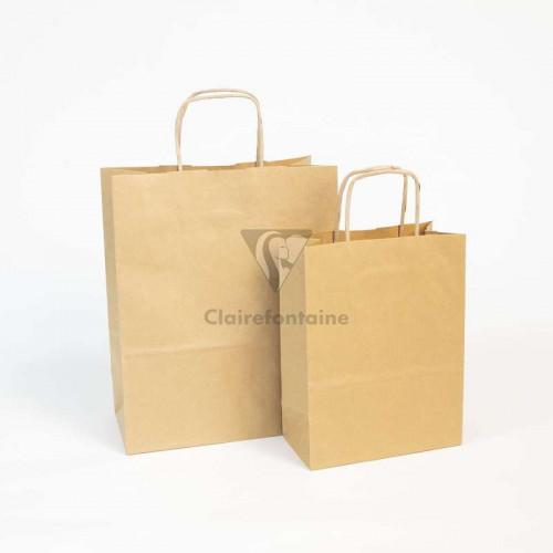 CF Kraft Bags Brown 18x7x24cm 1s Plain