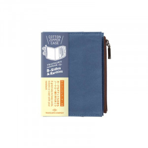 TRAVELERS Notebook PP Cotton Zipper Case Blue