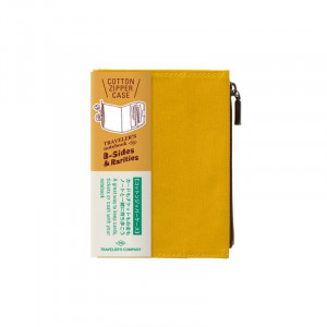 TRAVELERS Notebook PP Cotton Zipper Case Mustard
