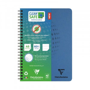 CF Clean'Safe WB Notebook A5 90g 120s Lined Sq Blu