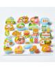 KING JIM Pop-Up Stickers POP004 Gourmet