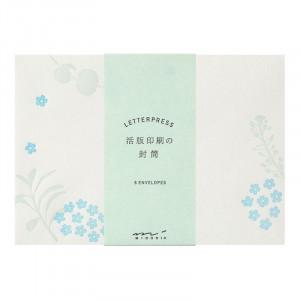 MIDORI Envelope Letterpress Scatter Flowers