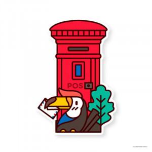 LOKAMADE Shaped Postcard MDP22 Hornbill with Care