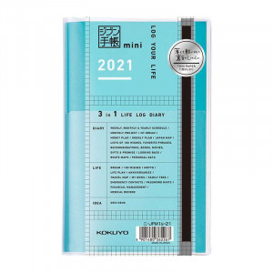 KOKUYO 2021 Jibun Techo Diary 3in1 mini Std-Green