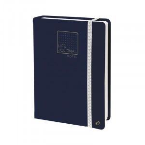 QUO VADIS Life Journal Dots L 15x21cm Ocean Blue