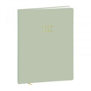 QUO VADIS Guestbook 21x27cm Pastel Green