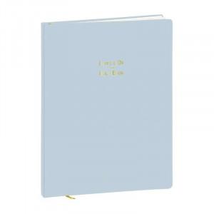 QUO VADIS Guestbook 21x27cm Pastel Blue