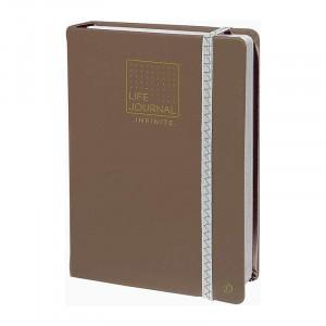 QUO VADIS Life Journal Infinite 15x21cm Taupe