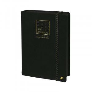 QUO VADIS Life Journal Dots L Black Edition15x21cm