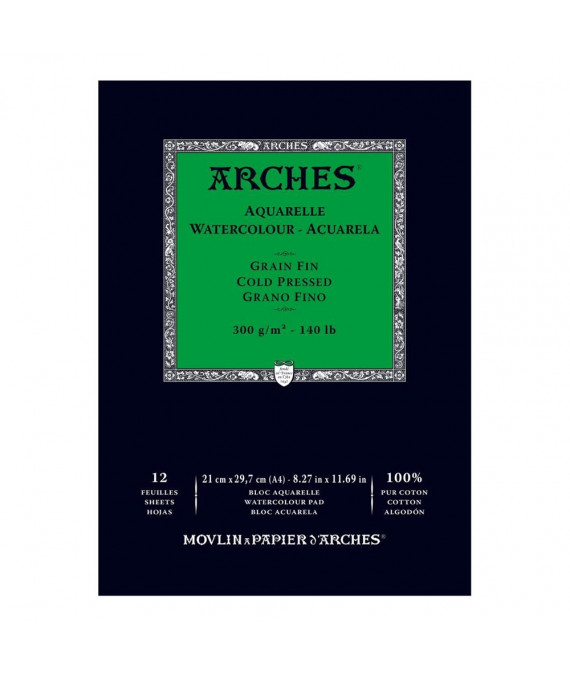 ARCHES Cold Pressed Pad N.White 300g A4 21x29.7cm