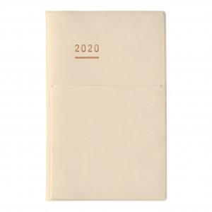 KOKUYO 2020 Jibun Techo Diary mini Pale Matt-Cream