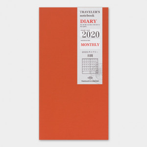 TRAVELERS Notebook 2020 Monthly Refill