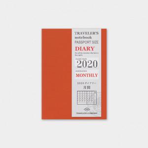 TRAVELERS Notebook 2020 Passport Monthly Refill